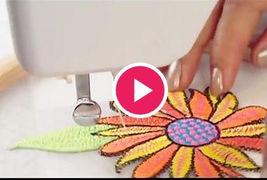گلدوزی با چرخ خیاطی ژانومه