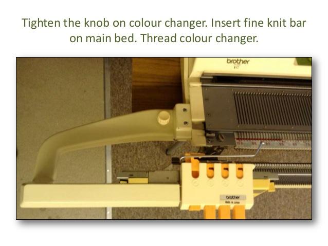 نحوه نصب دستگاه 4 رنگ بافی KRC 830