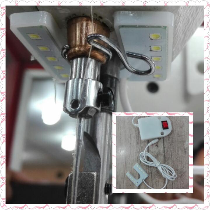 لامپ 10LED چرخ خياطي كارگاهی نعلی شکل قابل نصب بالای سوزن