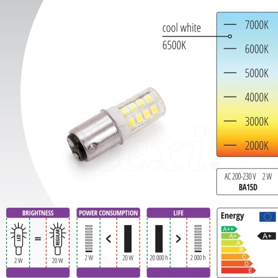 لامپ ميخی LED چرخ خیاطی ژانومه و كاچيران