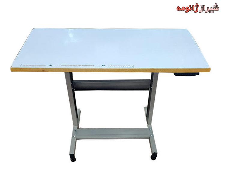 میز صاف چرخ خیاطی خانگی (تخته و پایه فلزی)