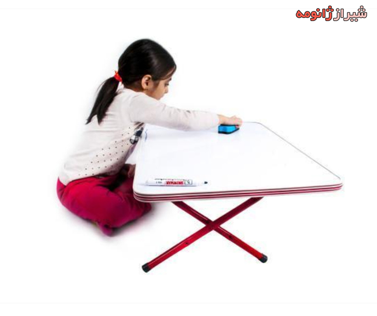 میز تحریر روزمینی با پایه تاشو و صفحه وایت برد